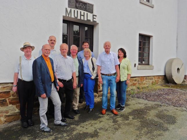 von links: Wilfried Lamberty, Rainer Doemen, Hans-Josef Marx, Udo Mergen, Ewald Gillig, Udo Adriany, Elke Backes, Jochen Seifert, Lisa Dahr