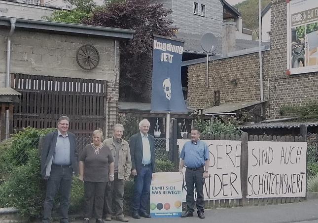 Auf dem Bild von links: Albert Maur, Resi Boes, Hans Boes, Jochen Seifert, Friedhelm Münch