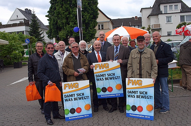 Spitzenkandidaten der Kreis-FWG standen in Bad Breisig Rede und Antwort
