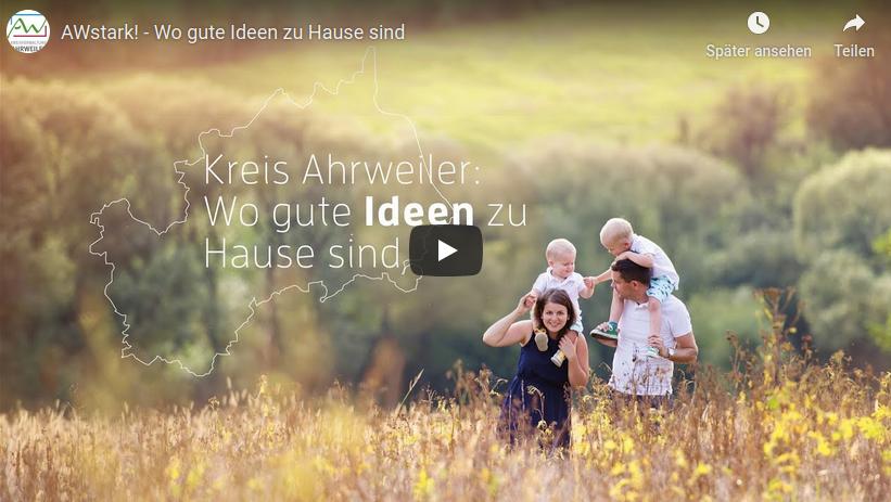 """Sehen Sie hier das Video """"AWstark – Wo gute Ideen zu Hause sind"""" der Kreisverwaltung Ahrweiler"""